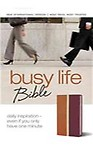 Busy Life Bible-NIV: Daily Inspiration--Even If You Only Have One Minute (Leather)
