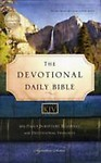 Devotional Daily Bible-KJV: 365 Daily Scripture Readings with Devotional Insights Hardcover