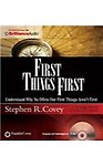 First Things First (CD/SPOKEN WORD)