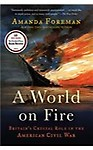 A World on Fire: Britain's Crucial Role in the American Civil War (Paperback)
